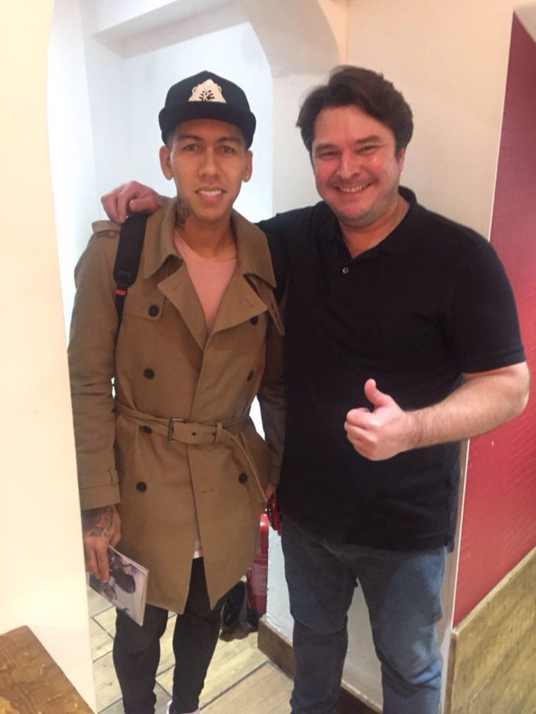 Roberto Firmino at Touro Brazlian Steakhouse in London and Brigthon