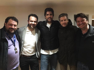 Duda,Wender Gava, Leo, Victor and Morelli at Touro Brazlian Steakhouse in London and Brigthon