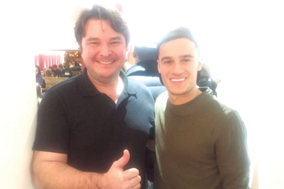 Philippe Coutinho at Touro Brazlian Steakhouse in London and Brigthon