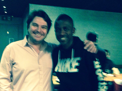 Ramires at Touro Brazlian Steakhouse in London and Brigthon
