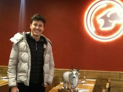 Rodrigo Faro at Touro Brazlian Steakhouse in London and Brigthon